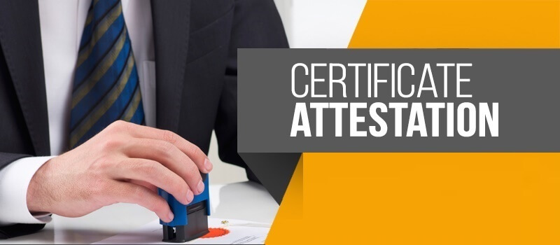 Attestation of certificate