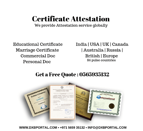 Certificate Attestation In India Get Your Documents Attested For Dubai